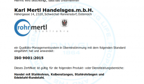 DNV Zertifikat